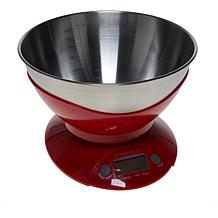 Wolfgang Puck Kitchen Scale and Stainless Steel Measuring Bowl