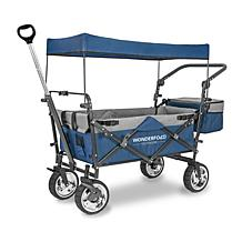 Wonderfold Wagon Push and Pull Outdoor Folding Wagon with Canopy