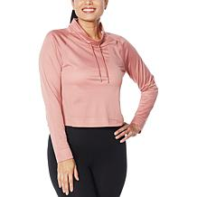 WVVY Mesh Long-Sleeve Funnel-Neck Top
