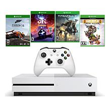 Xbox One S 1TB 4K Game Console with 4 Xbox Games
