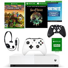 Xbox One S 1TB Digital Console with Wired Headset and Silicone Sleeve