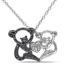 .02ctw Koala Bear Pendant with Sterling Silver Chain