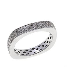 0.80ctw White Diamond Square Eternity Band Ring