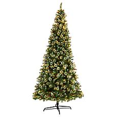 10' Frosted Swiss Pine  Christmas Tree with 850 Clear Lights