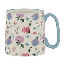 10 Strawberry Street Bella Sky Hydrangea Mug 4-Pack