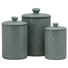 10 Strawberry Street Marquis 3-piece Canister Set - Blue