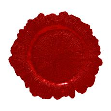 10 Strawberry Street Set of 6 Sponge Glass Charger
