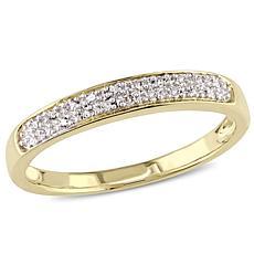 10K Diamond Semi-Eternity Ring