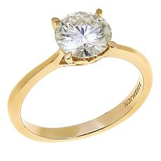10K Gold 1.75ct Moissanite Solitaire Ring