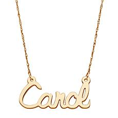 "10K Gold Script Name 19"" Rope-Chain Necklace"