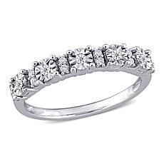 10K White Gold .10ctw Diamond Anniversary Ring