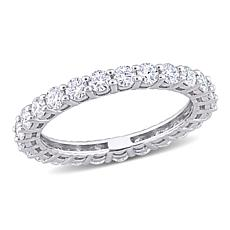 10K White Gold 1.50ctw Moissanite Eternity Band Ring