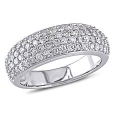 10K White Gold 1ctw Diamond Eternity Band Ring