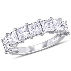 10K White Gold 2.80ctw Moissanite Semi-Eternity Band Ring