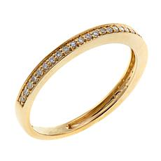10K Yellow Gold 0.13ctw White Diamond Band Ring