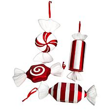 "12"" Jumbo Assorted Candy Deluxe Shatterproof Ornament - Set of 4"
