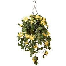 "14"" Bougainvillea Plant Artificial Hanging Basket"