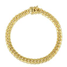 14K 7.25mm Semi-Solid Miami Cuban Bracelet with Figure 8 - 8-1/2""