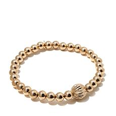 14K Beaded Stretch Bracelet