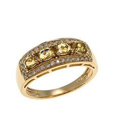 14K Gold 0.9ctw Zoisite and Diamond Ring