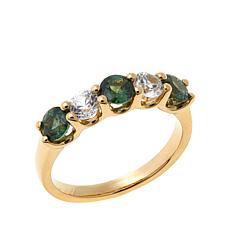 14K Gold 1.56ctw Zircon and Capricorn Sapphire Ring