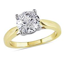 14K Gold 1.75ctw Moissanite Solitaire Ring