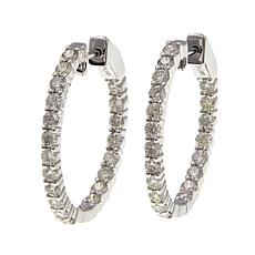 14K Gold 1.98ctw Diamond Hoop Earrings