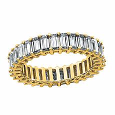 14K Gold 3.48ctw Moissanite Emerald-Cut Eternity Band Ring