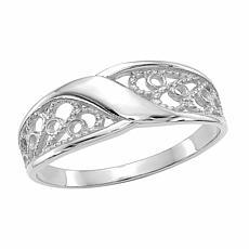 14K Gold Polished Filigree Ring