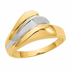 14K Gold Polished Wave Ring
