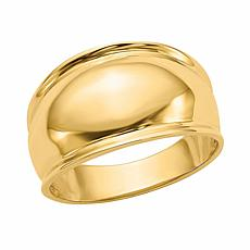 14K Gold Ridge-Edged Dome Ring