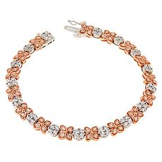 14K Two-Tone .48ct Pink and White Diamond Tennis Bracelet