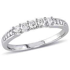 14K White Gold .31ctw White Diamond Band Ring