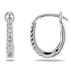 407de8b5e Round White Gold Diamond Earrings | hsn