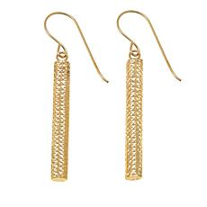 14K Yellow Gold Diamond-Cut Linear-Drop Earrings