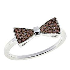 .15ctw Colored Diamond Bow Tie Sterling Silver Ring