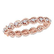 .17ctw White Diamond 10K Rose Gold Band Ring