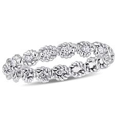 .17ctw White Diamond 10K White Gold Band Ring