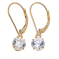 1.80ctw Absolute™ 14K Round Leverback Dangle Earrings