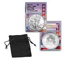 1987 MS69 ANACS San Francisco Silver Eagle Dollar Coin