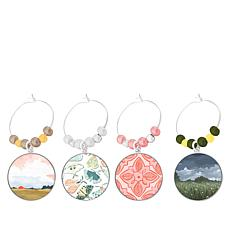1canoe2 Twilight Set of 4 Wine Glass Charms