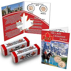 2012 Last Canada Cent 2-Roll Set with Story Card