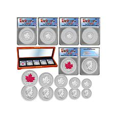 2015 RP70 ANACS Silver Canada Maple Leaf 5pc Coin Set