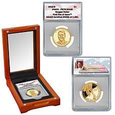 2016 PR70 ANACS FDOI LE 1981 Reagan Presidential Dollar