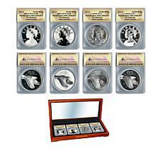 2017 ANACS 70 American Liberty 225th Anniversary Silver Medal Set of 4
