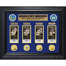 2017 NBA Champions Deluxe Gold Coin Ticket Collection