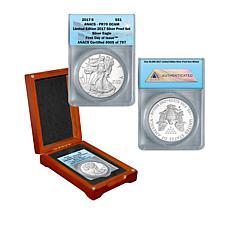 2017 PR70 ANACS FDOI LE 797 Silver Eagle Dollar Coin