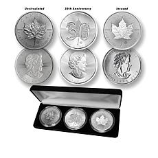 2018 BU 30th Anniversary $5 Canada Silver Maple Leaf 3-Coin Set