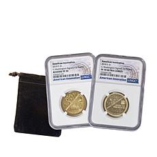 2018-S PF70 Proof & RP70 Reverse Proof American Innovation 2-Coin Set