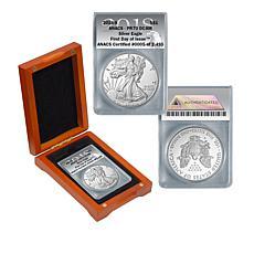2018-S PR70 ANACS DCAM FDOI LE 2,495 Silver Eagle Dollar Coin